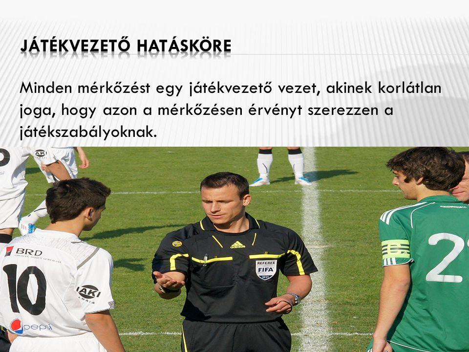 Minden mérkőzést egy játékvezető vezet, akinek korlátlan joga, hogy azon a mérkőzésen érvényt szerezzen a játékszabályoknak.