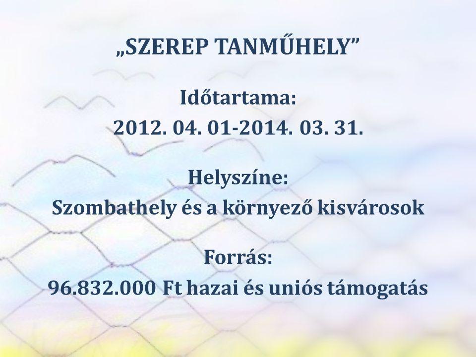 SZEREP TANMŰHELY MUNKÁLTATÓI INTERJÚK 1.