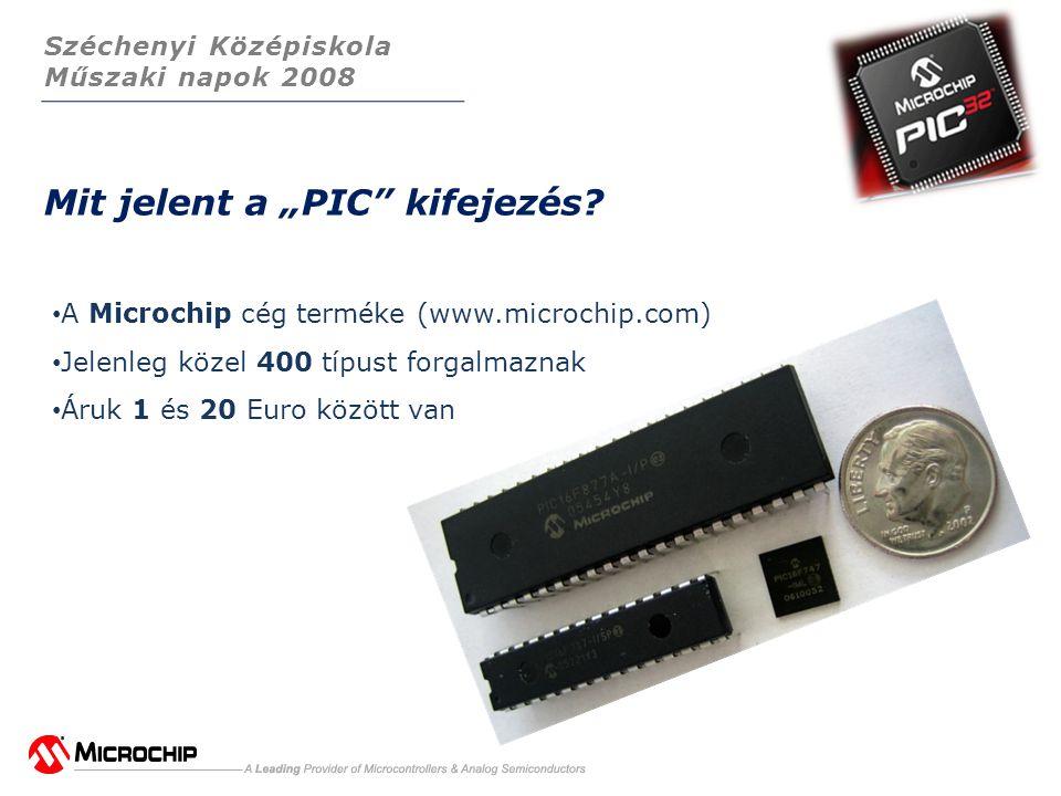 """Széchenyi Középiskola Műszaki napok 2008 Mit jelent a """"PIC kifejezés."""