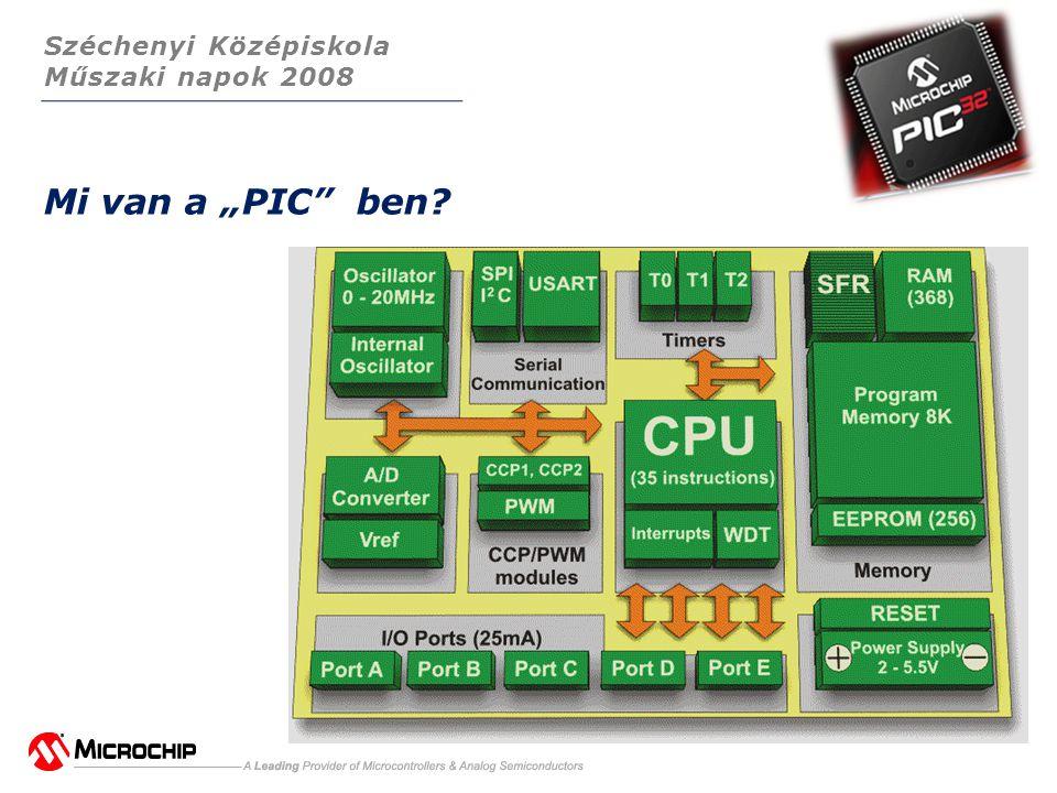 """Széchenyi Középiskola Műszaki napok 2008 Mi van a """"PIC ben?"""