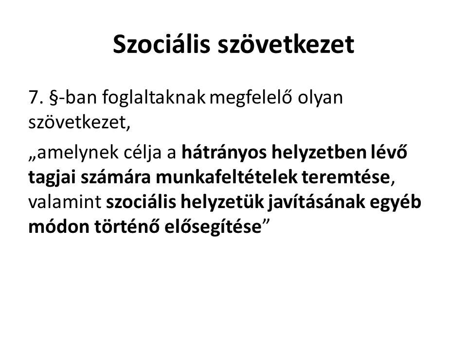Szociális szövetkezet 7.