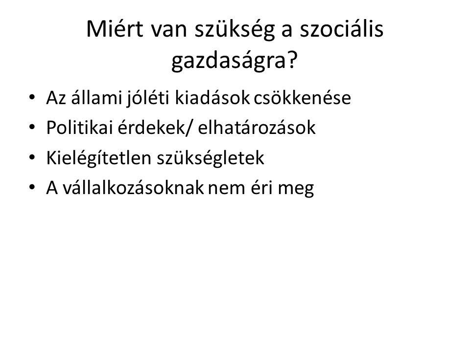 Miért van szükség a szociális gazdaságra.