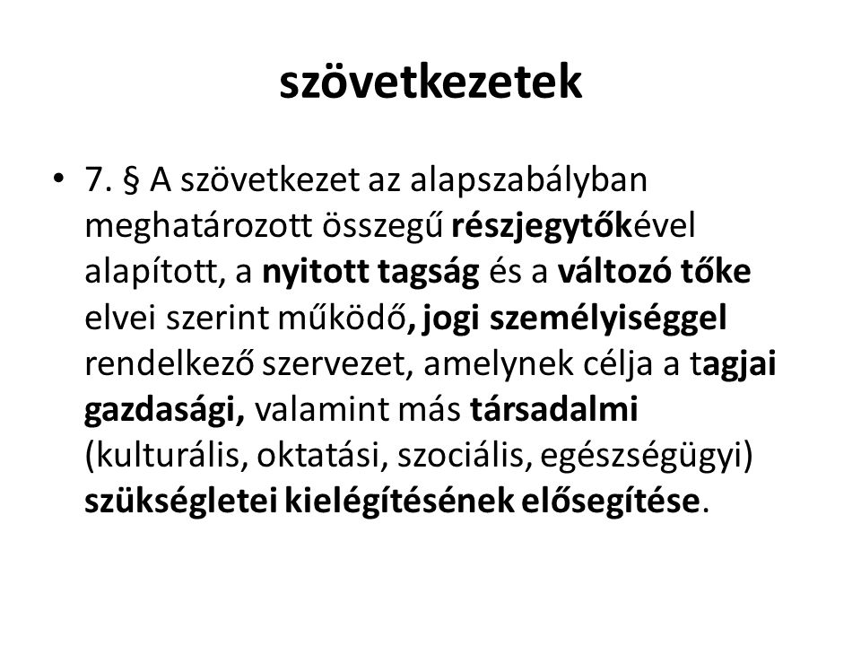 szövetkezetek • 7.