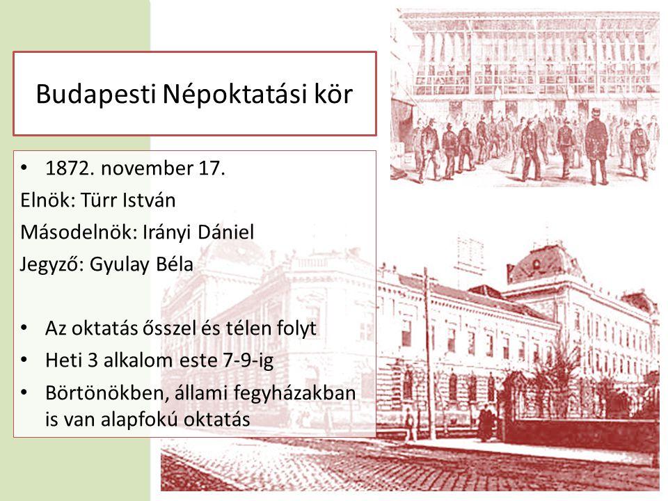 Budapesti Népoktatási kör • 1872. november 17.