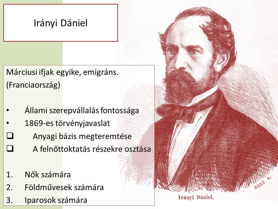 Irányi Dániel Márciusi ifjak egyike, emigráns.
