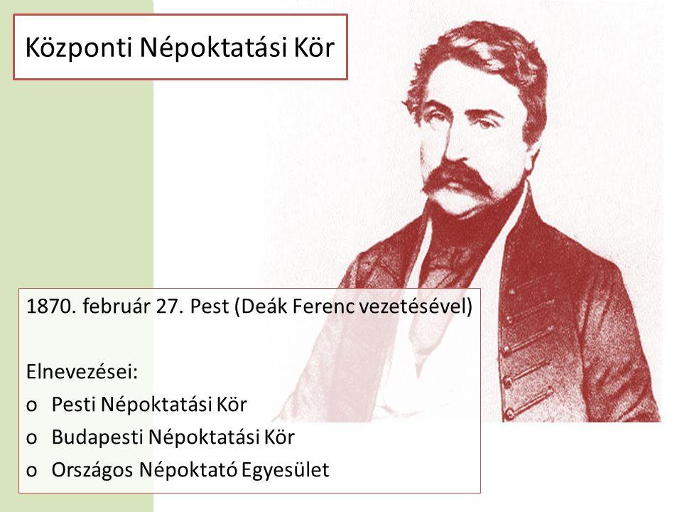 Központi Népoktatási Kör 1870. február 27.