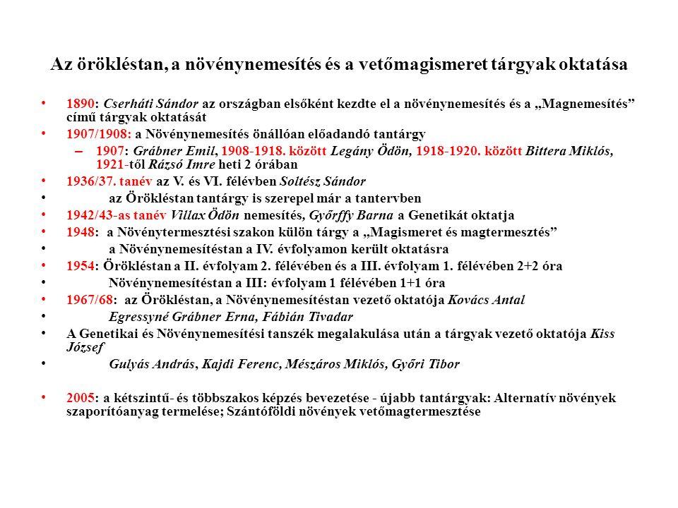 Kutatási témák 1983-tól (2) • Makai Sándor irányításával szilfium, keleti kecskeruta (Galega orientalis) és földimandula (Cyperus esculentus L.
