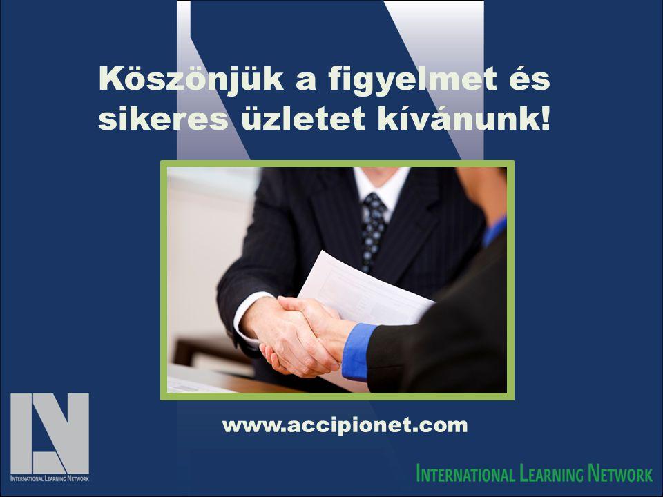 Köszönjük a figyelmet és sikeres üzletet kívánunk! www.accipionet.com