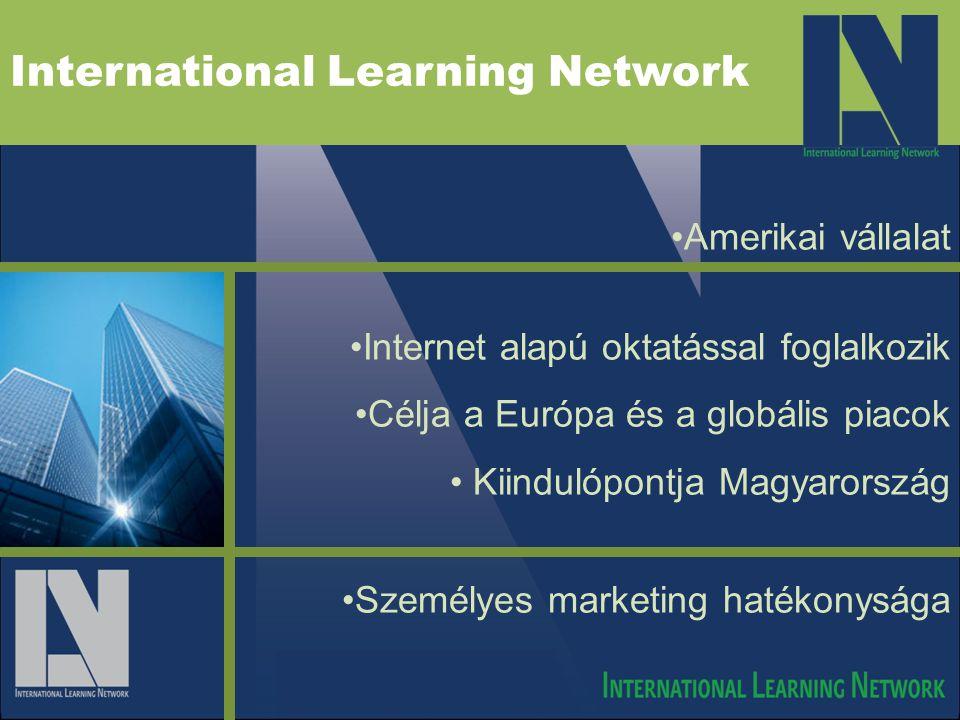 International Learning Network •Amerikai vállalat •Internet alapú oktatással foglalkozik •Célja a Európa és a globális piacok • Kiindulópontja Magyaro