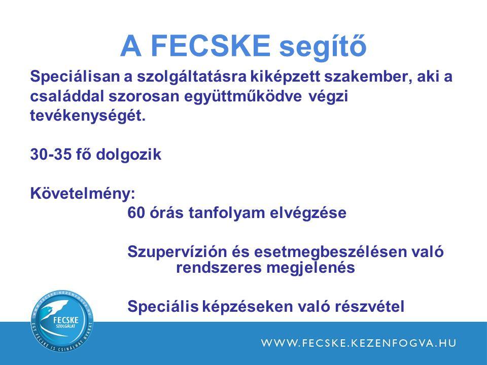 A FECSKE segítő Speciálisan a szolgáltatásra kiképzett szakember, aki a családdal szorosan együttműködve végzi tevékenységét.