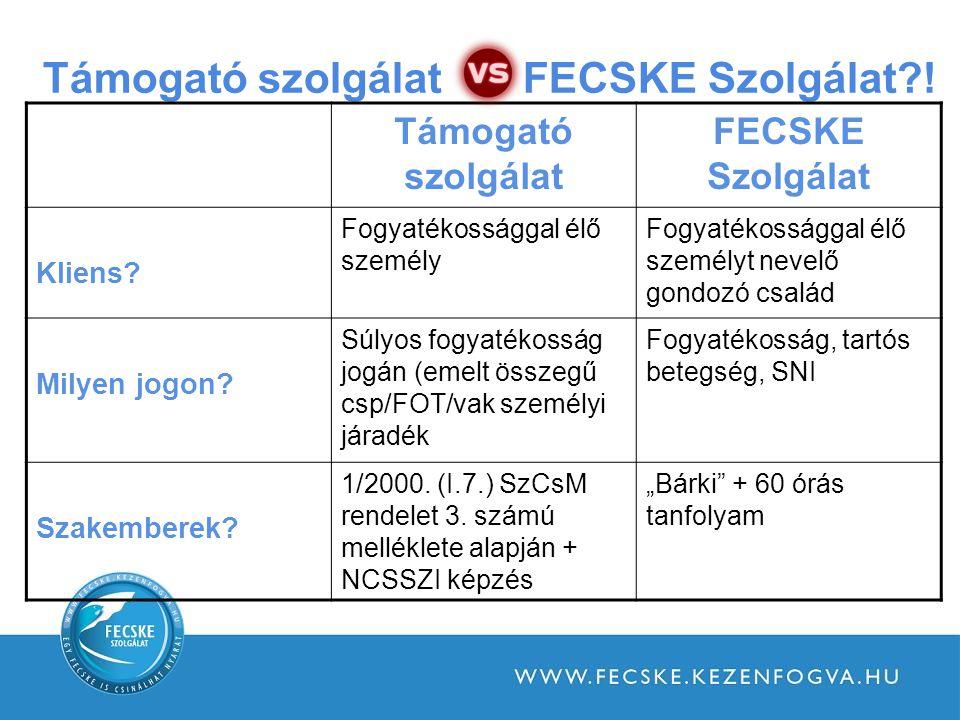 Támogató szolgálat FECSKE Szolgálat?.Támogató szolgálat FECSKE Szolgálat Kliens.