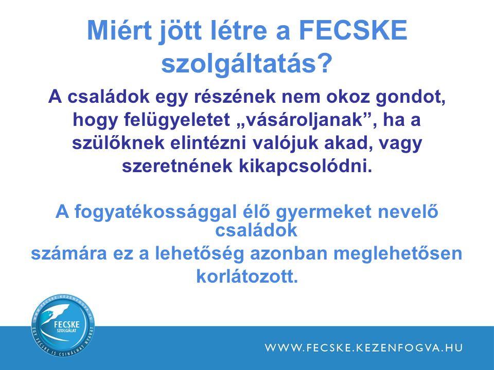 Miért jött létre a FECSKE szolgáltatás.