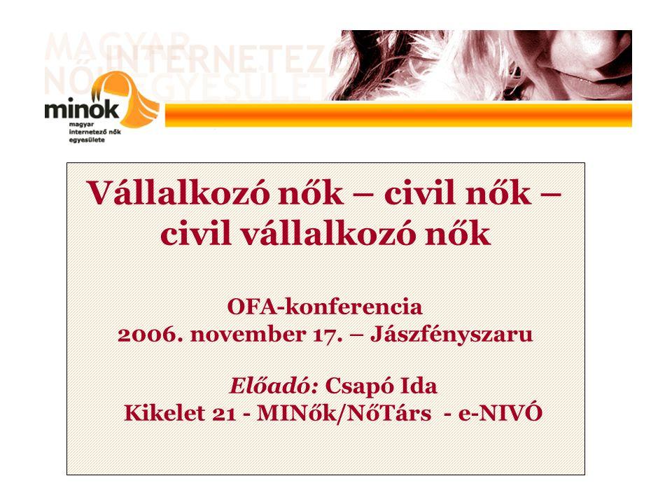 Vállalkozó nők – civil nők – civil vállalkozó nők OFA-konferencia 2006.