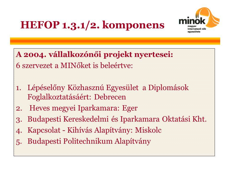HEFOP 1.3.1/2. komponens A 2004.