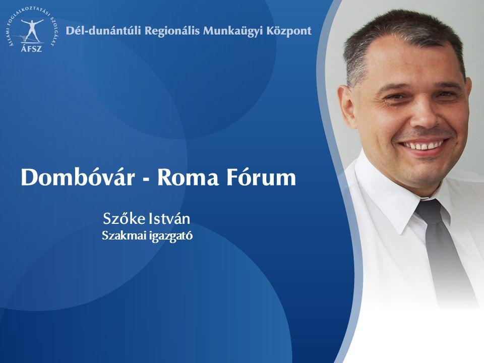 Szőke István Szakmai igazgató Dombóvár - Roma Fórum