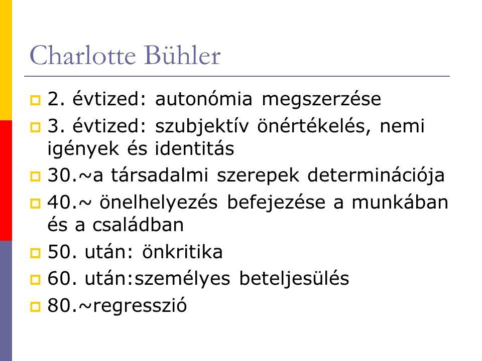 Charlotte Bühler  2.évtized: autonómia megszerzése  3.