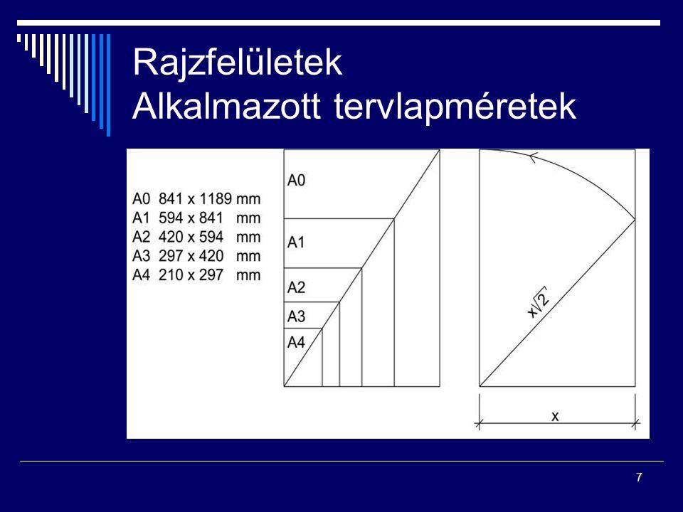 18 Szerkezetek jelei (a méretarány új jelölése 1: 200; 1: 100, 1: 50)