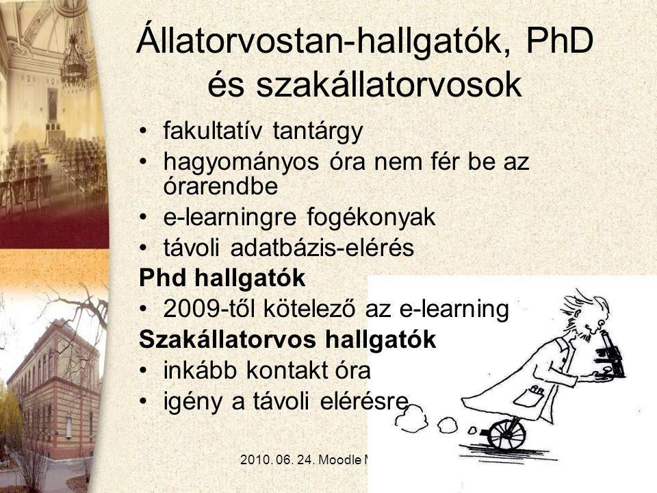 2010.06. 24. Moodle Moot - Gödöllő8 Angol nyelvű képzés •5.