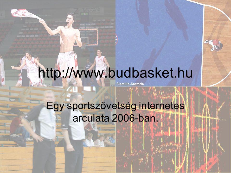 http://www.budbasket.hu Egy sportszövetség internetes arculata 2006-ban.