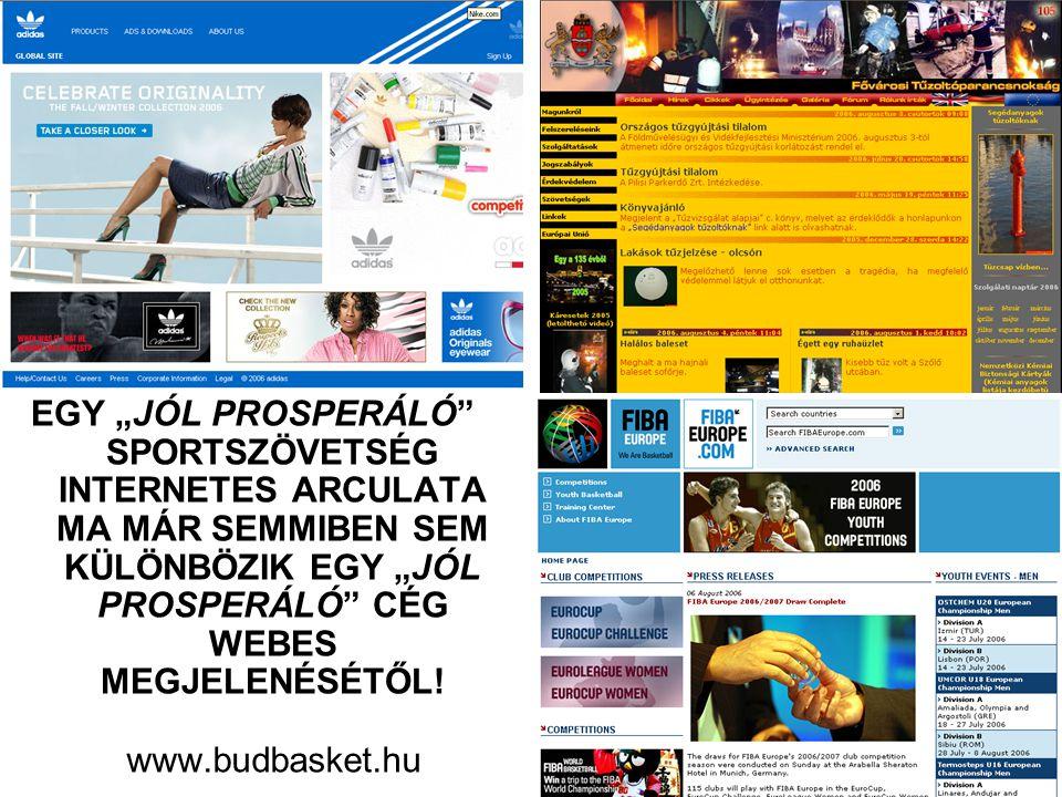http://www.budbasket.hu •hírek igényes megjelentetése a főoldalon, hogy legyenek visszatérő látogatóink is •el kell fogadni: 2006-ban a leggyorsabb, legpontosabb információs csatorna az internet •adminisztrált - ellenőrizhető - a közölt cikk időpontja és szerzője is egyaránt