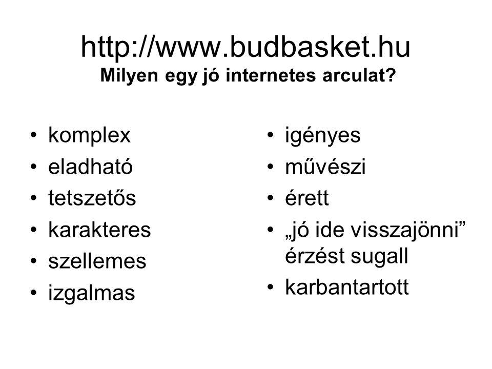 http://www.budbasket.hu Milyen egy jó internetes arculat.