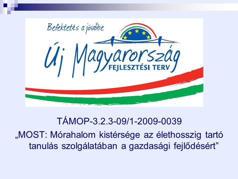 """TÁMOP-3.2.3-09/1-2009-0039 """"MOST: Mórahalom kistérsége az élethosszig tartó tanulás szolgálatában a gazdasági fejlődésért"""