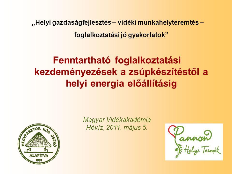 Tervezett témakörök 1.Elméleti alapvetések 2.Helyi értékekre alapozott gazdaságfejlesztés - A Hegypásztor Kör gyakorlata 3.Biomassza előállításra épülő helyi energia ellátás tartós munkahelyek létrehozásával