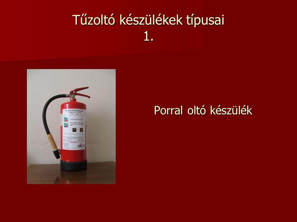 Tűzoltó készülékek típusai 1. Porral oltó készülék