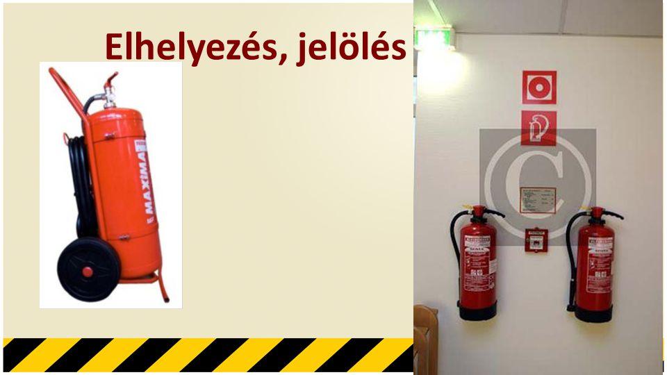 Tűz oltására alkalmas eszközök • Oltóanyag: a tűzoltó készülék töltete vagy töltetének az a része, amely a tűz oltására alkalmas • Hajtóanyag: a tűzoltó készülék töltetének az a része amelynek energiája a tűzoltó készülék oltóanyag tartalmát kilövelli