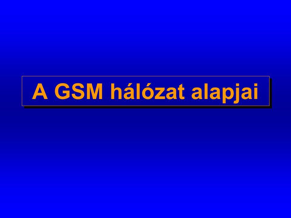 Mobil kapcsolóközpont (MSC) o GSM specifikus kapcsolóközpont o vezérli a kommunikáció felépítését a mobil készülék és egy másik központ között o BSS közti hívásátadást (handover) vezérel o üzeneteket továbbít o kapu (gateway) funkciót lát el a hálózaton kívüli hívások esetén