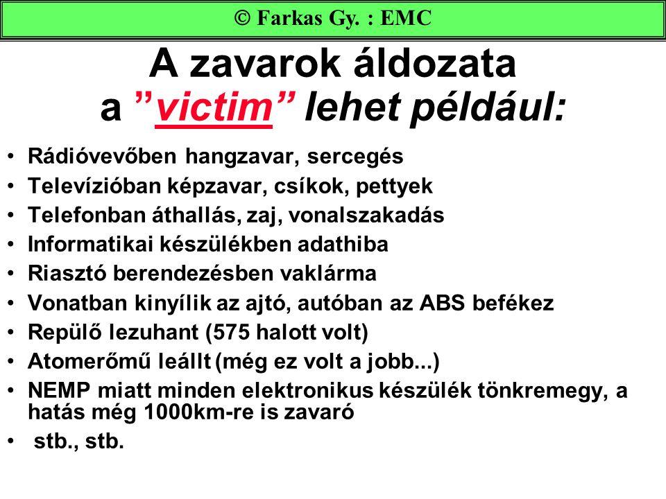 """A zavarok áldozata a """"victim"""" lehet például: •Rádióvevőben hangzavar, sercegés •Televízióban képzavar, csíkok, pettyek •Telefonban áthallás, zaj, vona"""