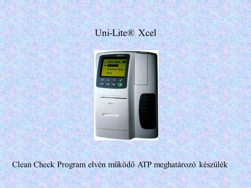 Uni-Lite® Xcel Clean Check Program elvén működő ATP meghatározó készülék