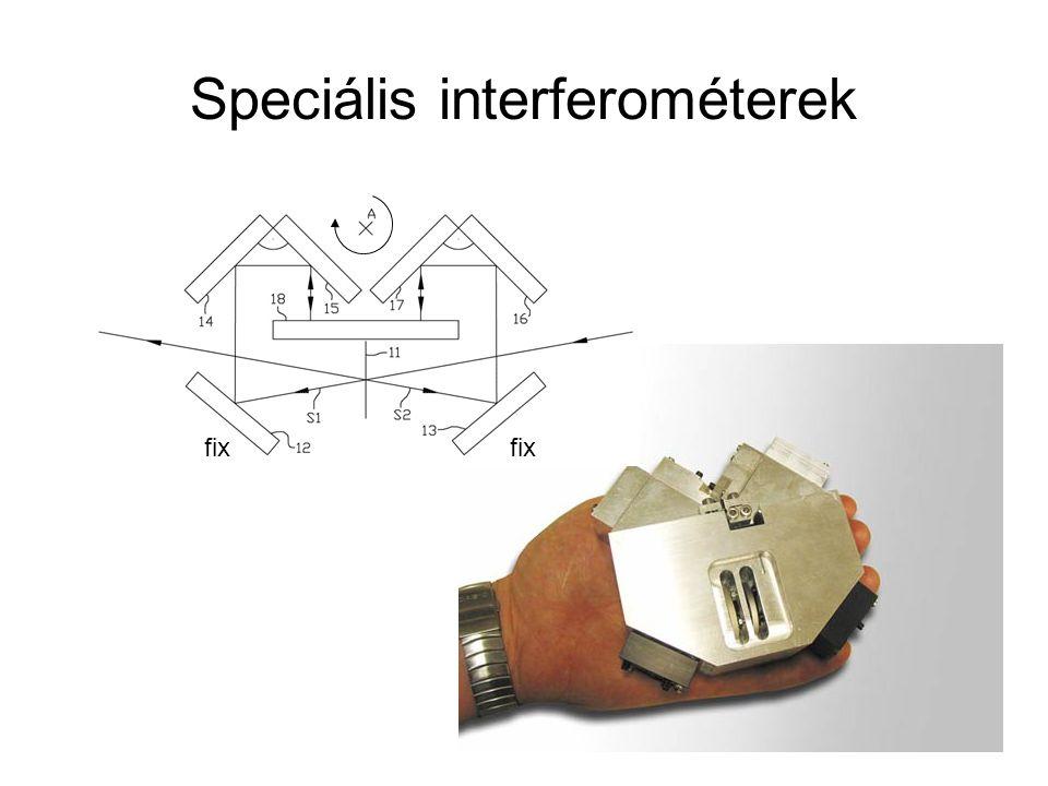 Speciális interferométerek fix