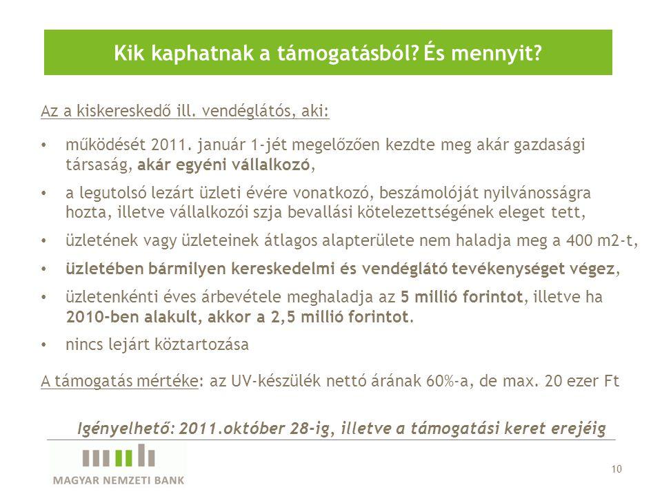 Az a kiskereskedő ill. vendéglátós, aki: • működését 2011. január 1-jét megelőzően kezdte meg akár gazdasági társaság, akár egyéni vállalkozó, • a leg