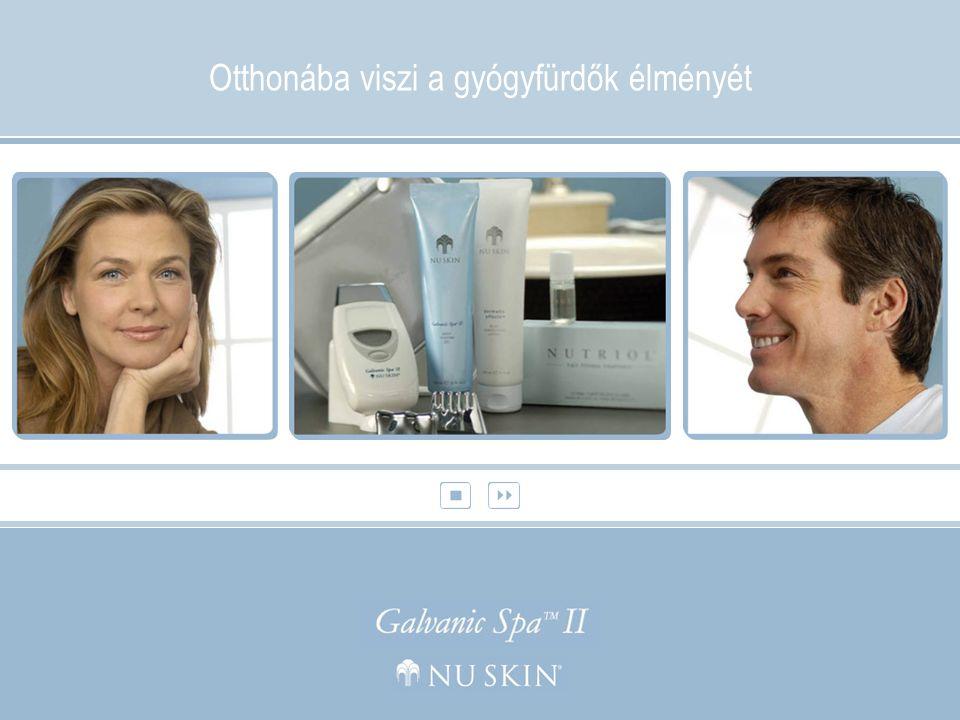Fiatalítsa meg arcbőrét, revitalizálja haját, újítsa meg testét professzionális gyógyfürdő kezelésekkel, anélkül, hogy időpontot kéne kérnie A Nu Skin Galvanic Spa™ System II bemutatása:  Programozható, egyénileg beállítható, felcserélhető tartozékokkal rendelkező jellegének köszönhetően minőségi kezelést nyújt arcának, fejbőrének, valamint testének.