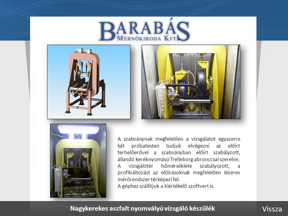 Aszfalt hidegrepedés vizsgáló berendezés A terhelő-berendezés szabályozott hőmérsékletű hűtőkamrában helyezkedik el.
