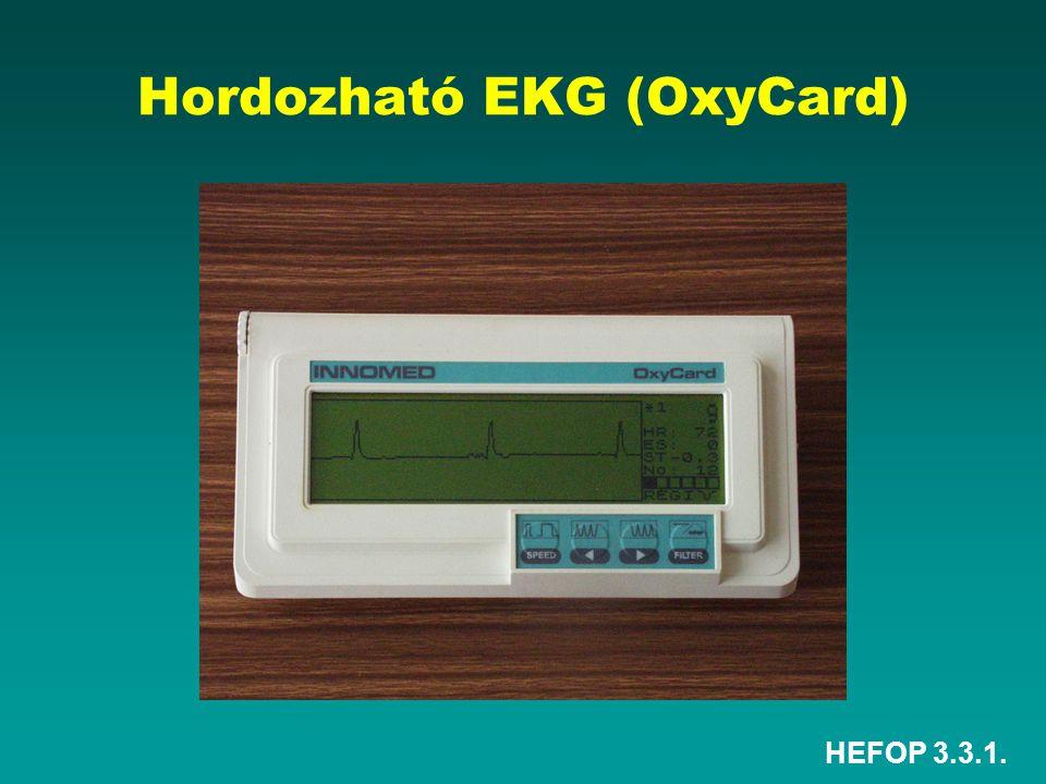 HEFOP 3.3.1. Hordozható EKG (OxyCard)
