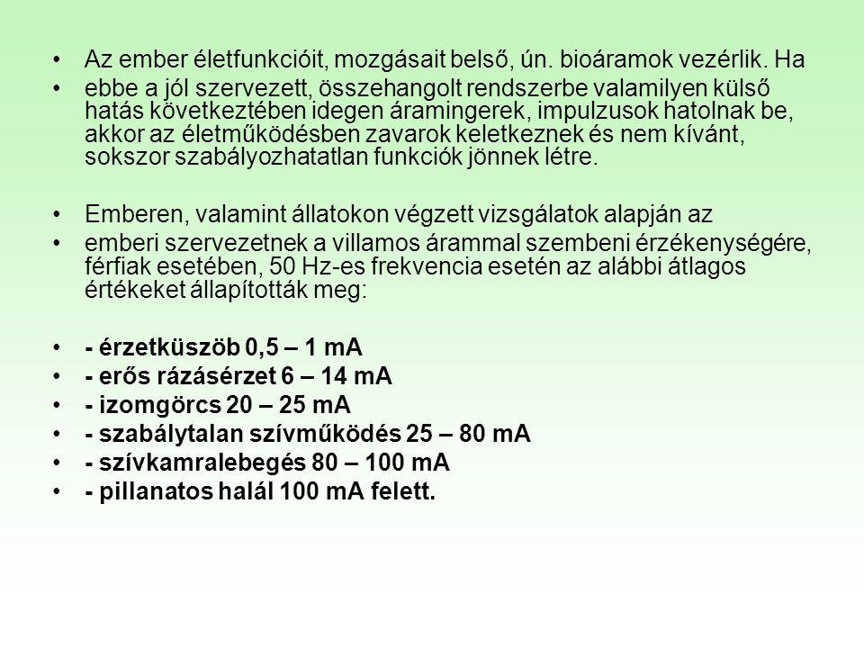 HEFOP 3.3.1. •Az ember életfunkcióit, mozgásait belső, ún. bioáramok vezérlik. Ha •ebbe a jól szervezett, összehangolt rendszerbe valamilyen külső hat