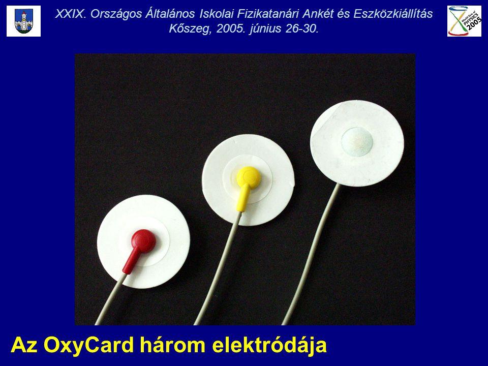 Az OxyCard három elektródája XXIX. Országos Általános Iskolai Fizikatanári Ankét és Eszközkiállítás Kőszeg, 2005. június 26-30.
