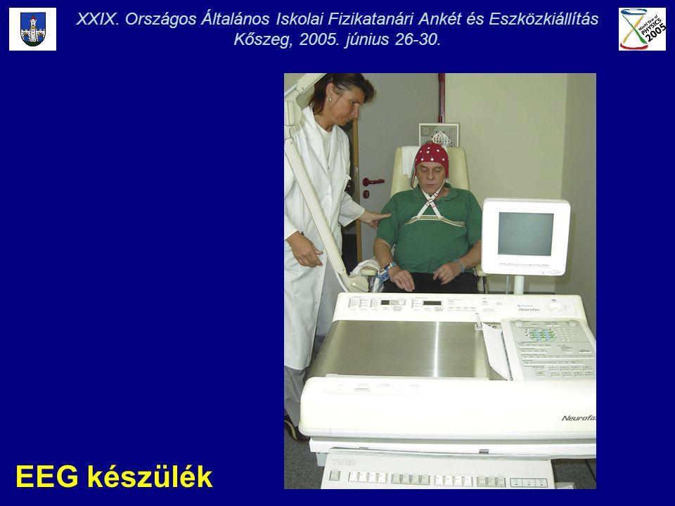 EEG készülék XXIX. Országos Általános Iskolai Fizikatanári Ankét és Eszközkiállítás Kőszeg, 2005. június 26-30.