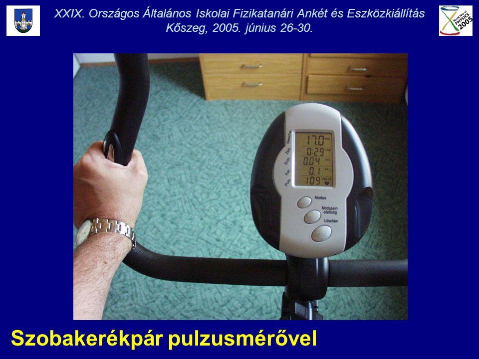 Szobakerékpár pulzusmérővel XXIX. Országos Általános Iskolai Fizikatanári Ankét és Eszközkiállítás Kőszeg, 2005. június 26-30.