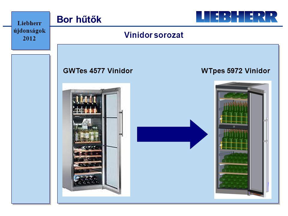 Bor hűtők GWTes 4577 VinidorWTpes 5972 Vinidor Vinidor sorozat Liebherr újdonságok 2012