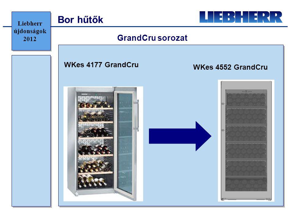 Bor hűtők WKes 4177 GrandCru WKes 4552 GrandCru GrandCru sorozat Liebherr újdonságok 2012