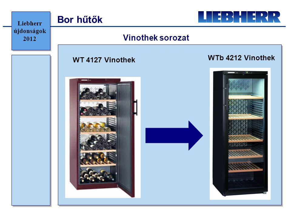 Bor hűtők Vinothek sorozat WT 4127 Vinothek WTb 4212 Vinothek Liebherr újdonságok 2012