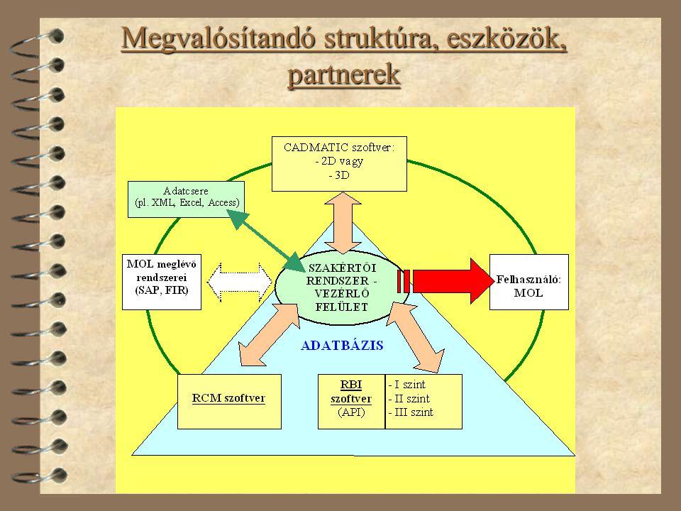 Megvalósítandó struktúra, eszközök, partnerek