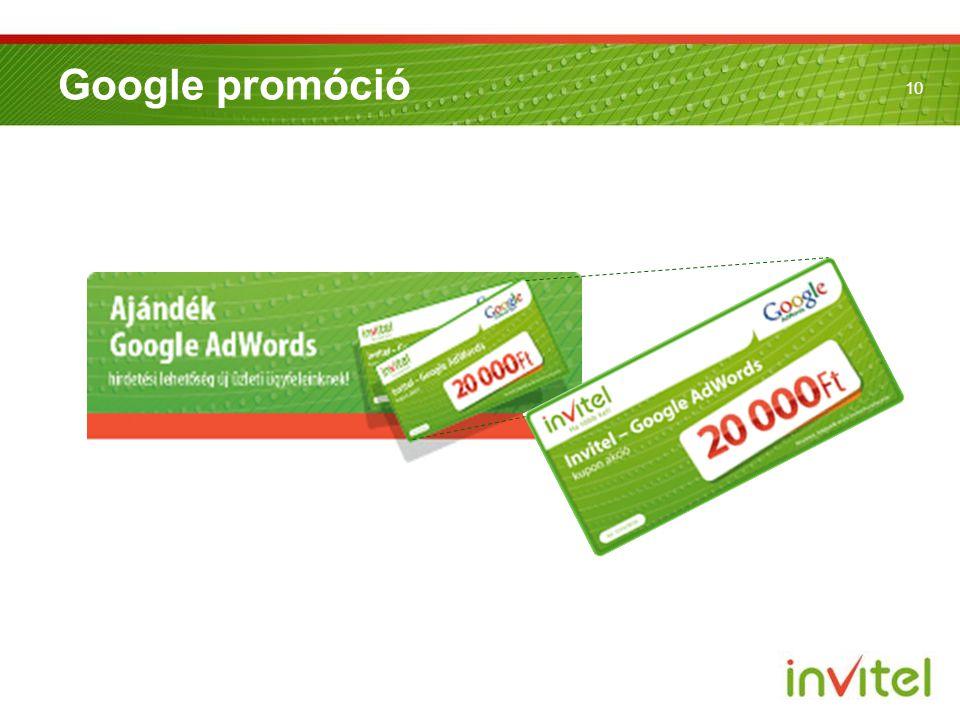 10 Google promóció