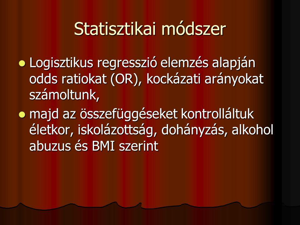 A Hungarostudy 2006 követéses vizsgálat eredményei a korai halálozással kapcsolatban:  2002-ben 12.640 embert kérdeztünk ki, közülük 2006-ig 4689 sze
