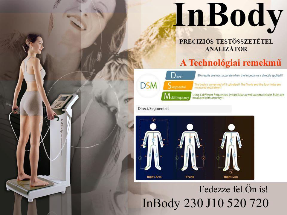 InBody InBody 230 J10 520 720 PRECIZIÓS TESTÖSSZETÉTEL ANALIZÁTOR A Technológiai remekmű Fedezze fel Ön is!