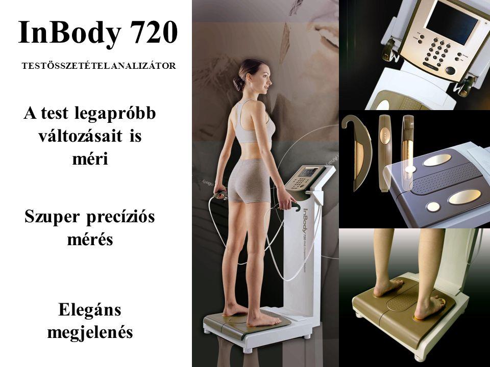 InBody 720 TESTÖSSZETÉTEL ANALIZÁTOR A test legapróbb változásait is méri Szuper precíziós mérés Elegáns megjelenés
