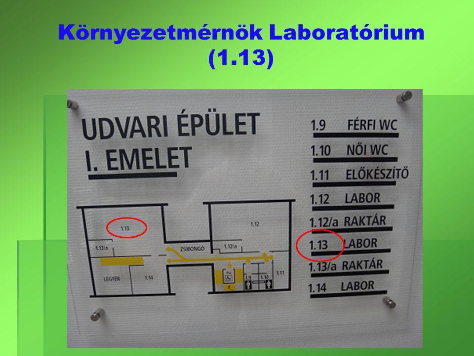 Környezetmérnök Laboratórium (1.13)